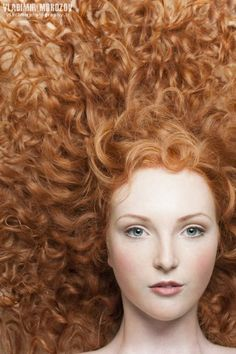 ♀ Woman portrait young lady with redheads