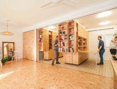 Split & Slide: Modular Dividers Make 3 Rooms in Single Space