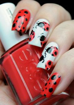 Hey there lovers of nail art! In this post we are going to share with you some Magnificent Nail Art Designs that are going to catch your eye and that you will want to copy for sure. Nail art is gaining more… Read more › Cute Nail Art, Beautiful Nail Art, Cute Nails, Pretty Nails, Bird Nail Art, Animal Nail Art, Fancy Nails, Red Nails, Blue Nail
