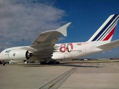 Air France A380 - 80th Anniversary sticker