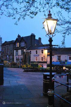 Great Malvern by street light. Visit Malvern, where my mom was born.