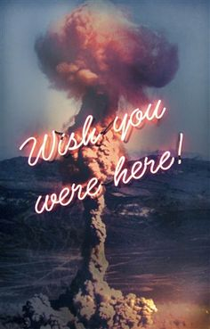 """Wish you were here"". Olivia Steele. Hand Blown and Coloured Neon / photographic print on aluminum dibond"