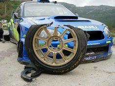 Subaru Rally when a wheel stops turning. Subaru Rally, Rally Car, Subaru Impreza, Wrx Sti, Rally Racing, Sti Subaru, Sport Cars, Race Cars, Colin Mcrae