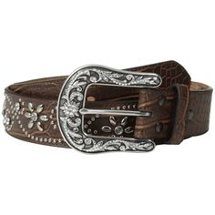 10ba7626f3cbb Ariat Flower and Scroll Studded Belt Women s Belts ( 59) ❤ liked on  Polyvore featuring