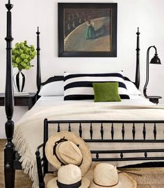 black and white bedroom- guest room