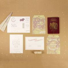 Fly Away Boarding Pass Wedding Invitation £2.75 http://www.notonthehighstreet.com/eighthandautumn/product/fly-away-boarding-pass-wedding-invitation