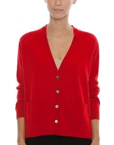 Pre-owned Randolph Duke Scarlet Red Cashmere Cardigan Sweater with ...