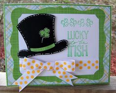 Lucky to be Irish card 3/8/2013 SOUS Die Cut Challenge Shamrock