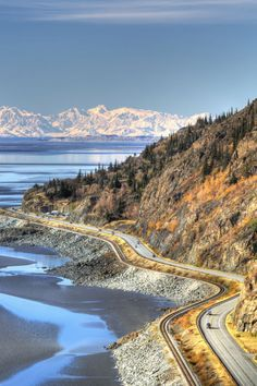 Drive along one of America's most beautiful coastal highways from the wilderness of the Kenai Fjords through Chugach National Forest back to Anchorage. Route: Seward, Alaska to Anchorage, Alaska