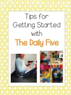 The Daily Five: Getting Started;  great for summer planning