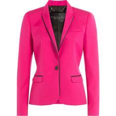 Barbara Bui Wool Blazer ($643) ❤ liked on Polyvore featuring outerwear, jackets, blazers, barbara bui, tops, none, fuschia blazer, blazer jacket, pink jacket and slim blazer