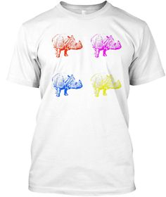 This is a special tee that we have created to raise awareness for the rhinos. All the money gained from this campaign will contribute to the extension of their lives on our planet. Come help us save the rhinos! It doesn't take much!