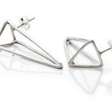 Brinco triângulo 3D