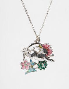 Image 3 ofBill Skinner Flower Leaping Rabbit Necklace