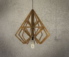 DIAMOND wood Pendant Light lasercut Chandelier lamp Handmade plywood hanging ceiling cup ecological minimal modern design industrial