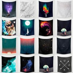 Sky star Moon Hippie Hanging Polyester Retro Wall Tapestry Bedspread Home Decor #Unbranded #Psychedelic