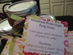tell your sister you're sorry...: {Homemade Brown Sugar Scrub}