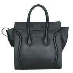 CELINE LUGGAGE MINI BLACK CALFSKIN 11189 - CELINE BAGS - HANDBAGS