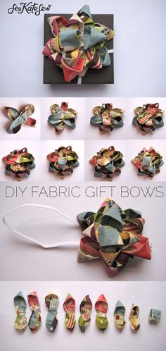 how to make a gift bow out of fabric | diy gift bows | diy fabric ideas | how to use extra fabric | handmade gift bows | diy gift wrap | handmade gift wrap | diy christmas bows || See Kate Sew #giftbows #giftwrap #diybow #handmadebow