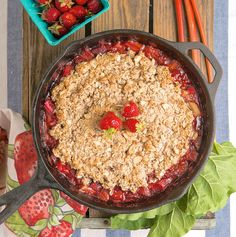 Strawberry Rhubarb Cobbler (gluten-free with an almond-oat topping) — The Fountain Avenue Kitchen