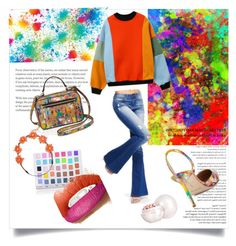 """""""Color splash"""" by alexisjoseph-1 ❤ liked on Polyvore featuring Milly, Shany, Carole, Manolo Blahnik and Guerlain"""