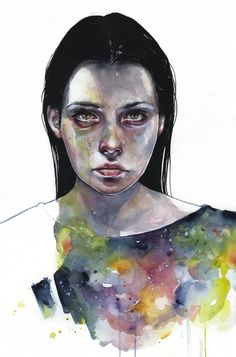 'Moonlight' Original Painting by Agnes Cecile - Now available for purchase at Eyes On Walls http://www.eyesonwalls.com/collections/agnes-cecile?sort_by=created-descending