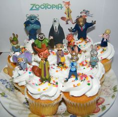 Disney Zootopia Deluxe Cake Toppers Set of 13 Figures Party Decorations #Disney