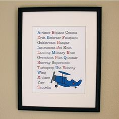 This version of Aviation ABC's is adorable for any little, future pilot!