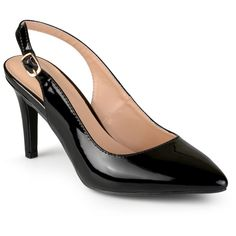 Women's Journee Collection Carol Almond Toe Slingback Pumps -