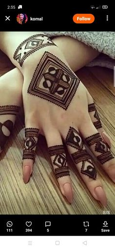 Not gonna be easy. but i wanna try Henna Hand Designs, Mehndi Designs Finger, Henna Tattoo Designs Simple, Simple Arabic Mehndi Designs, Modern Mehndi Designs, Mehndi Design Pictures, Mehndi Designs For Beginners, Mehndi Designs For Girls, Mehndi Designs For Fingers