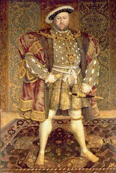 Hans Holbein, Portrait of Henry VIII  A robustez física (enchimento nas vestes masculinas) era desprovida da sua dimensão funcional, representava bravura, valentia, associada a vida militar. Período: renascimento