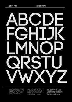 CODE Pro by Fontfabric , via Behance