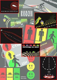 Road Safety - Solomiya Shevchuk Drive Sober; Zebra; Lightreflectors