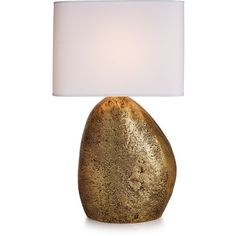 Michael Aram Pebble Table Lamp (14.325 ARS) ❤ liked on Polyvore featuring home, lighting, table lamps, gold, michael aram and handmade lamps