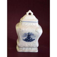 Antigua Azucarera De Porcelana Delf