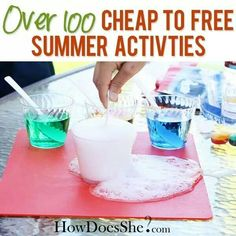 Cheap to frees summer activities