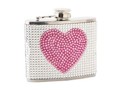 shimmery pink heart flask