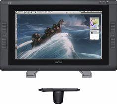 """Wacom - Cintiq 22HD 21.5"""" Interactive Pen Display - Black - Front Zoom"""