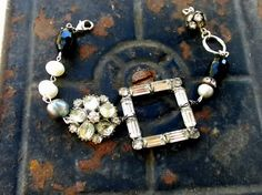 rhinestone beaded bracelet.  [Think this would make a great necklace.  NLP]