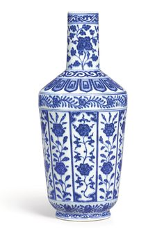 BLUE AND WHITE BOTTLE VASE, SEAL MARK AND PERIOD OF DAOGUANG