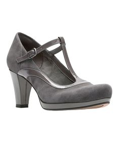 4c5ba8303f Take a look at this Dark Gray Chorus Pitch Suede/Patent Leather T-Strap