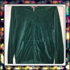 """Juicy Couture velour hoodie - Emerald Green Worn only 3 or 4 times.  This is a gorgeous Emerald Green hoodie with the classic """"J"""" zipper pull in size Medium. Juicy Couture Sweaters"""