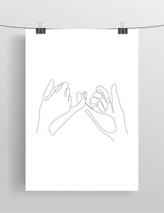 Pinky Promise Pinky Swear Hands Fingers Friends Printable Line Drawing Print Black White Artwork Poster Minimalist hand Art. One Line Tattoo, Line Art Tattoos, Tattoo Art, Tatoos, Haut Tattoo, Pinky Promise Tattoo, Pinky Tattoo, Hand Kunst, Black And White Artwork