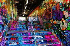 sydney university, graffiti tunnel, street art http://www.weekendnotes.com/sydney-street-art/