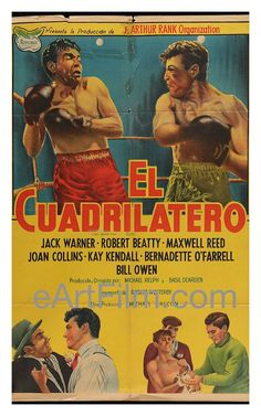 Happy #NationalPunchDay https://eartfilm.com/search?q=boxing #punch #boxing #fights #fighting #gloves #knockout #ufc #fighters  Square Ring 1953 29.25x43.25 Movie Poster Argentina