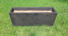 """Lightweight Rectangular Planter Pottery 48""""L x 16""""W x 18""""H 23 lbs. Item # 2045-4  Custom Colors Available Shown In Antique Espresso"""