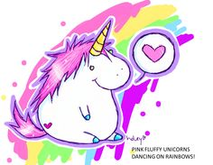 1000 Images About Pink Fluffy Unicorn Dancing On Rainbows