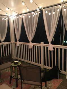 1000 ideas about curtain lights on pinterest net lights for Balcony decorating ideas on a budget
