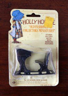Holly Hobbie Die-Cast Metal Miniatures School Desk by LifesAYoyo