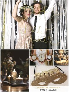 New Year's Eve Wedding Inspiration Board